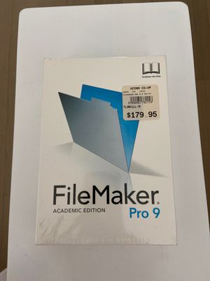 FileMaker Pro $179 brand new never used in plastic Academic Edition for Sale in San Diego, CA
