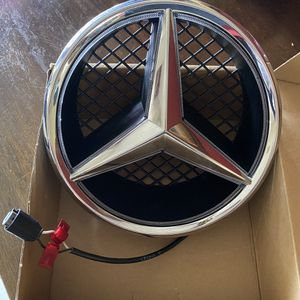 White LED Mercedes C Class front emblem for Sale in Corona, CA