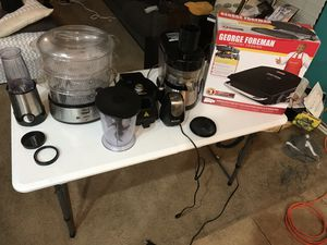Bella blender, Deni steamer, Ninja Kitchen, Waffle maker, Fusion Juicer, George Foreman grill for Sale in Pflugerville, TX