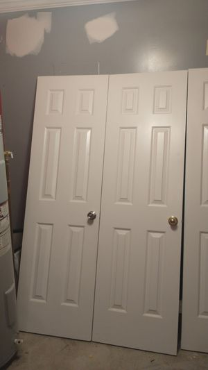 Six panel doors painted white for Sale in Virginia Beach, VA
