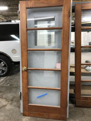 2 Doors with glass & some hwd $45.00 each, 2 for $70.00 for Sale in St. Louis, MO