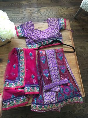Traditional Indian lehenga style saree for Sale in Houston, TX