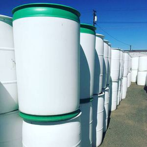 55 Gallon Poly Water Storage Barrels for Sale in Modesto, CA
