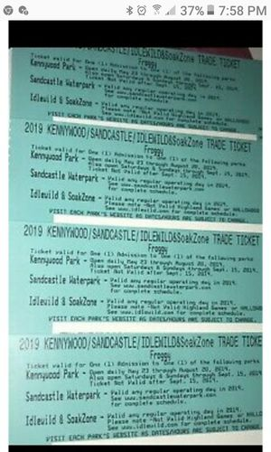 4 KENNYWOOD TICKETS .. for Sale in Athalia, OH