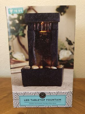 NEW in BOX LED Table Water Fountain Home Decor Office Decor for Sale in Clovis, CA