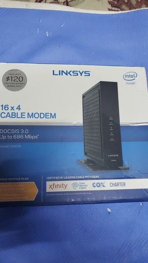 LINKSYS 16×4 CABLE MODEM for Sale in Hawthorne, CA