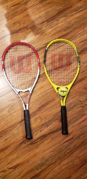Wilson tennis rackets and ball for Sale in Tumwater, WA