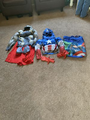Thor and Captain America costume size 7-8 for. kids $20 for both price is firm for Sale in North Las Vegas, NV