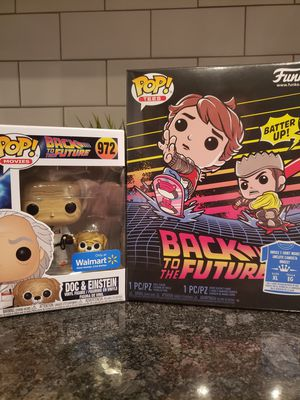 MARTY MCFLY WITH HOVERBOARD AND DOC WITH EINSTEIN FUNKO POP for Sale in Phoenix, AZ
