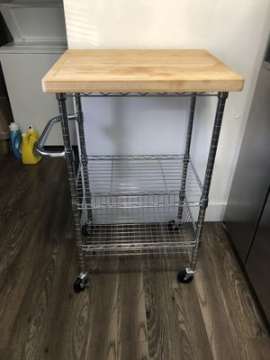 3 tier kitchen Shelf with cutting board for Sale in Lauderhill, FL