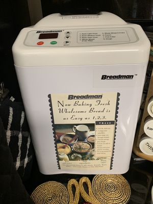 Like New Breadman TR440 Bread Maker with 7 settings - Cary for Sale in Cary, NC