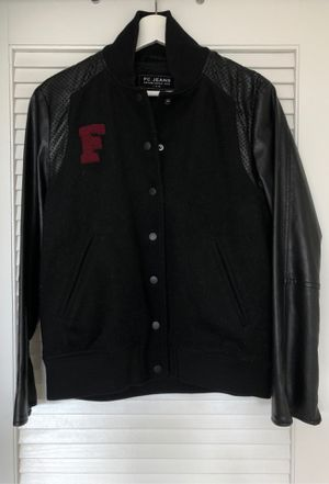 Fashionable leather& Wool Jacket for Sale in Arlington, VA