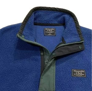 Abercrombie And Fitch Blue Fleece Jacket Sweatshirt Sherpa Blue - Mens Medium for Sale in Washington, DC