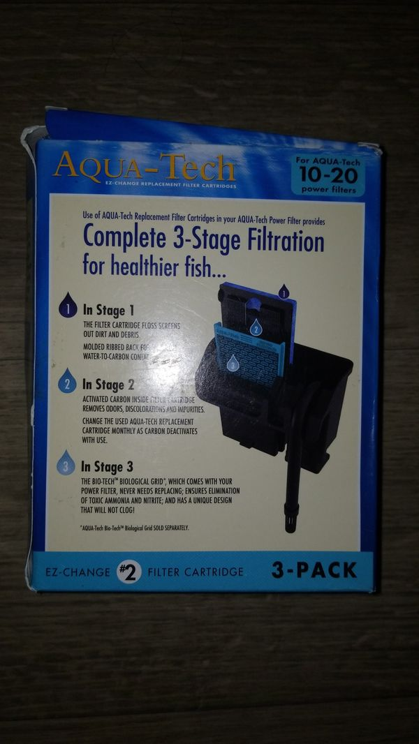Aqua-Tech EZ-Change No.2 3-Pack Aquarium Filter Cartridge for 10 to 20 Power Filters