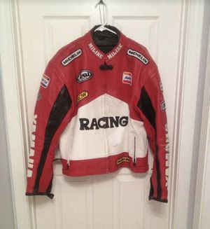 Miline Yamaha Racing motorcycle leather jacket-Men's L/XL for Sale in Norridge, IL