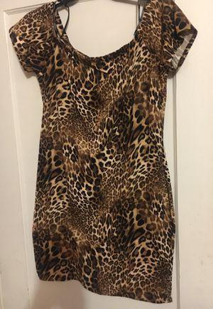 Animal Print drop shoulder dress for Sale in Stockton, CA