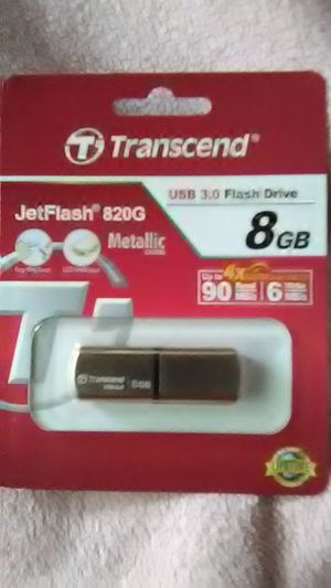 (1) 8 GB Transcend Jet USB flash drive 3.0/2.0 (1) 16 GB Infinity USB flash drive & (1) 128 GB Caraele micro SD card and card reader. All 3 for $40 for Sale in Washington, PA