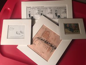 Lot of matted comic strip picture clippings for Sale in Petersburg, VA