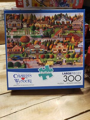 "Buffalo Games CHARLES WYSOCKI ""Labor Day In Bungalowville"" 300pc Puzzle NEW for Sale in Indianapolis, IN"