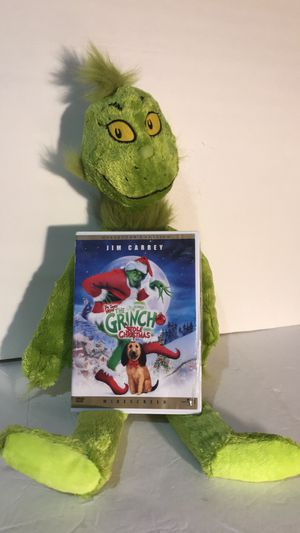 How the grinch stole Christmas dvd and grinch for Sale in Smyrna, GA
