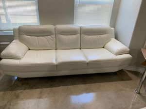 White leather couches for Sale in Selma, TX