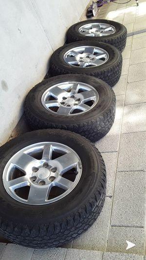 Goodyear tires 275/65r18 GMC RIMS for Sale in Avondale, AZ
