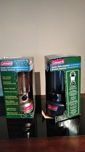 2 Coleman large tube lantern new for Sale in Washington, DC
