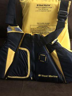 West Marine Kayak Vest for Sale in Hasbrouck Heights,  NJ