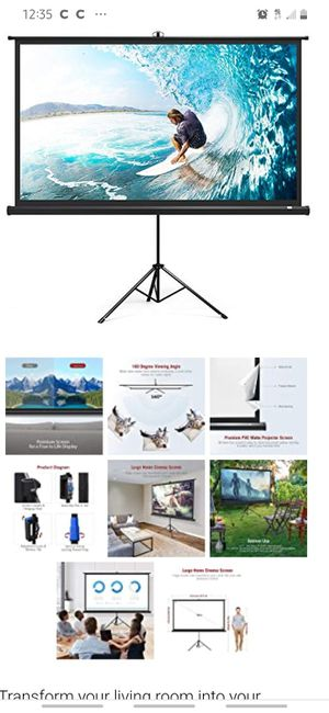 """Tripod 100"""" Projection Screen indoor/outdoor for Sale in LAKE TAPWINGO, MO"""