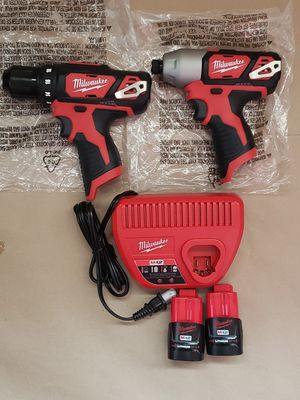 New Milwaukee M12 Drill Driver Impact Driver Kit for Sale in Greenville, SC