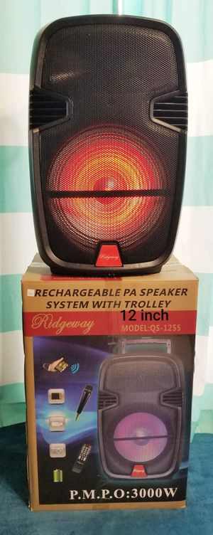 New Bluetooth speaker sd card slot usb port fm radio microphone included for karaoke many more available ( bosina ) for Sale in Moreno Valley, CA