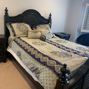 Queen Black Complete Bedroom Set for Sale in Alpine, CA
