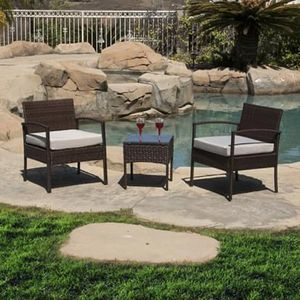 SHIPPING ONLY 3 Piece Patio Furniture Set w/Chairs Table and Cushions for Outdoor Areas for Sale in Las Vegas, NV