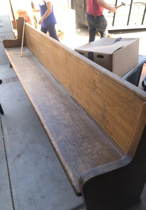 13 foot church pew bench wood wooden for Sale in Los Angeles, CA