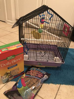 Bird cage and food for Sale in Savannah, GA