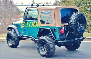 """Well maintained🍀$1000One Owner2OO0 Jeep Wrangler TJ """"""""Read the description and follow the steps from there"""""""" for Sale in Washington, DC"""