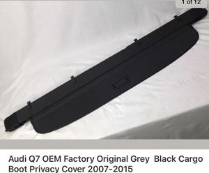 Audi Q7 OEM factory Original Grey Black Cargo Boot Luggage Privacy Cover for Sale in San Ramon, CA