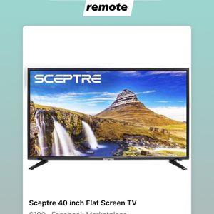 40 Inch Sceptre flat Screen w/ Remote for Sale in Denver, CO