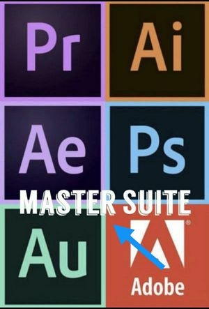 Adobe Creative Suite Master Collection Includes Photoshop Premiere Lightroom Illustrator Acrobat Pro and More! for Sale in Los Angeles, CA