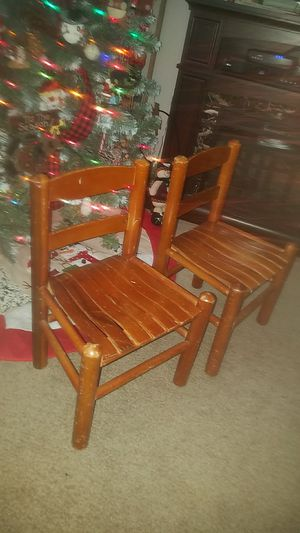 Vintage Wood Child's Chairs Rustic Cabin for Sale in Cincinnati, OH