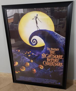 Nightmare Before Christmas Movie Poster - 3ft 3in x 2ft 3in for Sale in Glendale, AZ