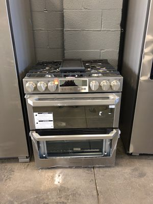 "30"" NEW SLIDE GAS STOVE STAINLESS STEEL DOUBLE OVEN ELECTRIC OVEN WITH WARRANTY for Sale in Woodbridge, VA"