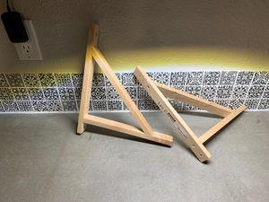 Wooden IKEA wall shelf brackets for Sale in Las Vegas, NV
