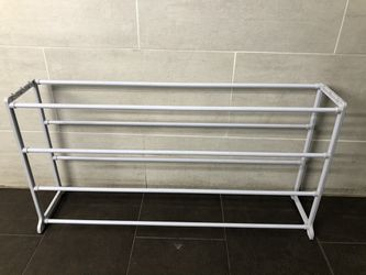4 tier white plastic shoe rack for Sale in Brooklyn,  NY