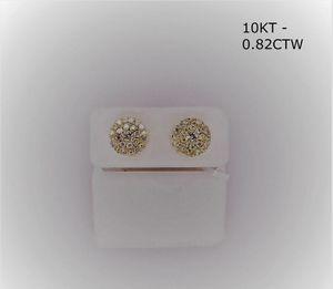 10kt Gold 0.52Ct Disc Shape Ear Ring for Sale in Tucker, GA