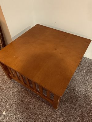 Heavy duty real wood coffee table for Sale in Canton, MI