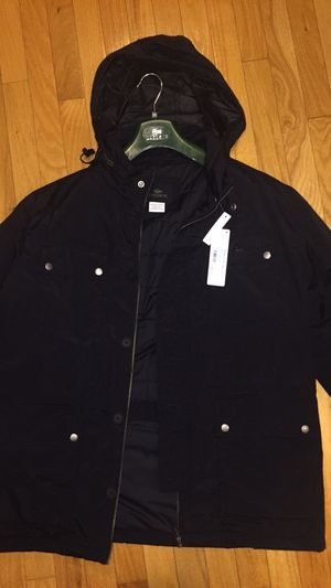 Men's Lacoste jacket with hood, size XL (56/7) for Sale in Leesburg, VA
