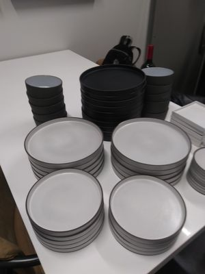 Cb2 dinnerware pitch pottery design. 10 each dinner salad and soup bowl for Sale in Dolton, IL