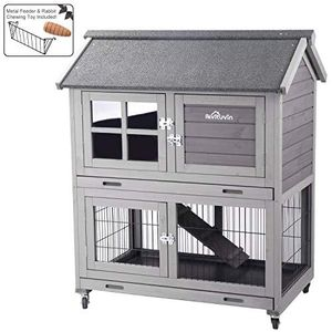 Bunny hutch on wheels for inside/outside for Sale in Roseville, CA