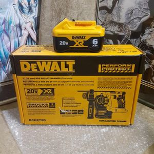 NEW DEWALT 20V XR BATTERY AND SDS PLUS ROTARY HAMMER for Sale in Glendale, AZ